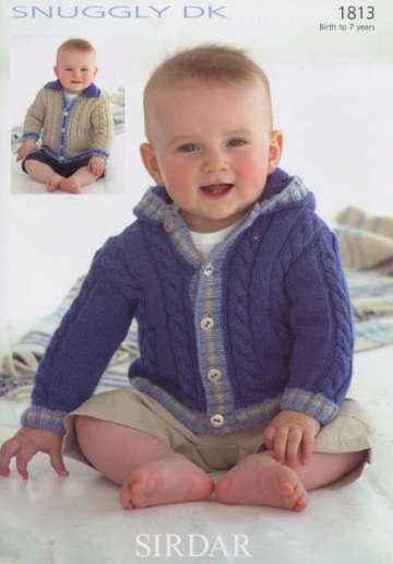 Sirdar Knitting Pattern Snuggly DK, Collared and Hooded Jackets 1813